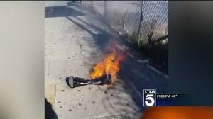hoverboard flames